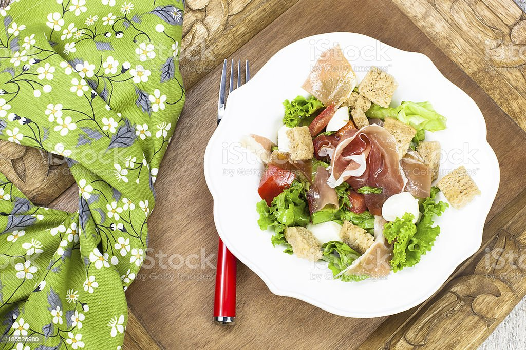 Prosciutto salad royalty-free stock photo