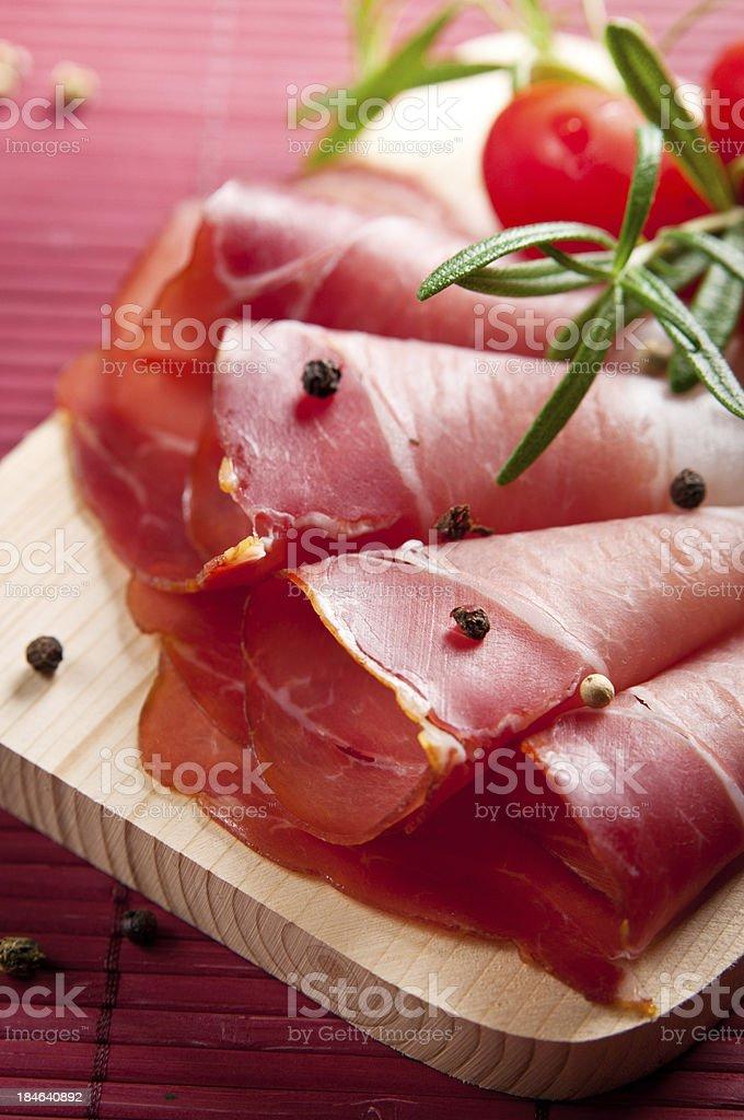 prosciutto slices royalty-free stock photo