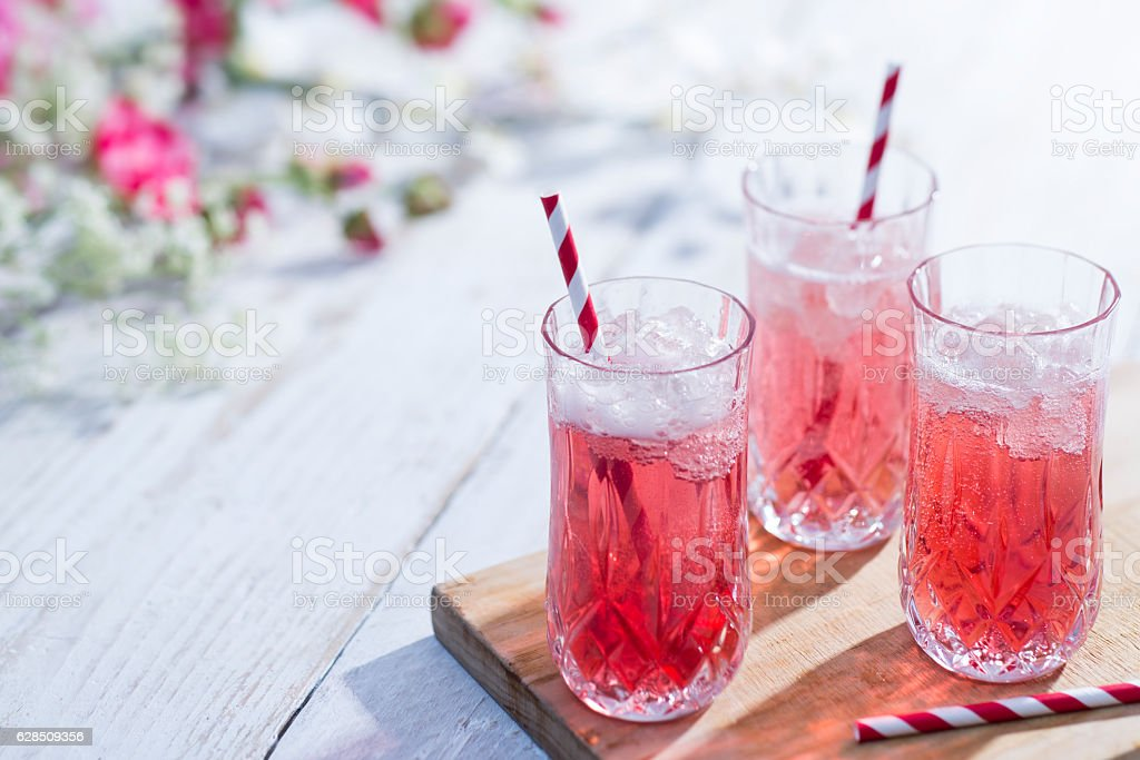 Prosecco Bellini Cocktail stock photo