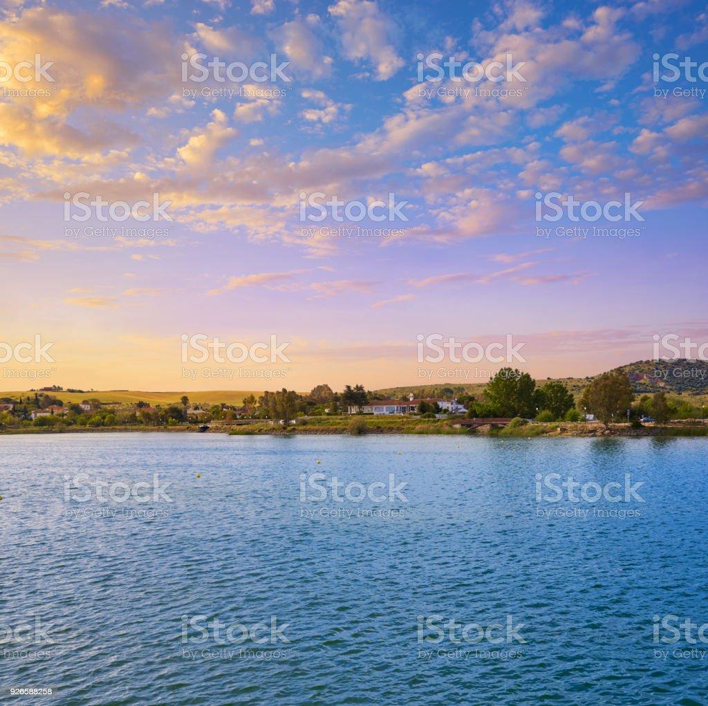 Prosepina roman dam Merida Badajoz Spain stock photo