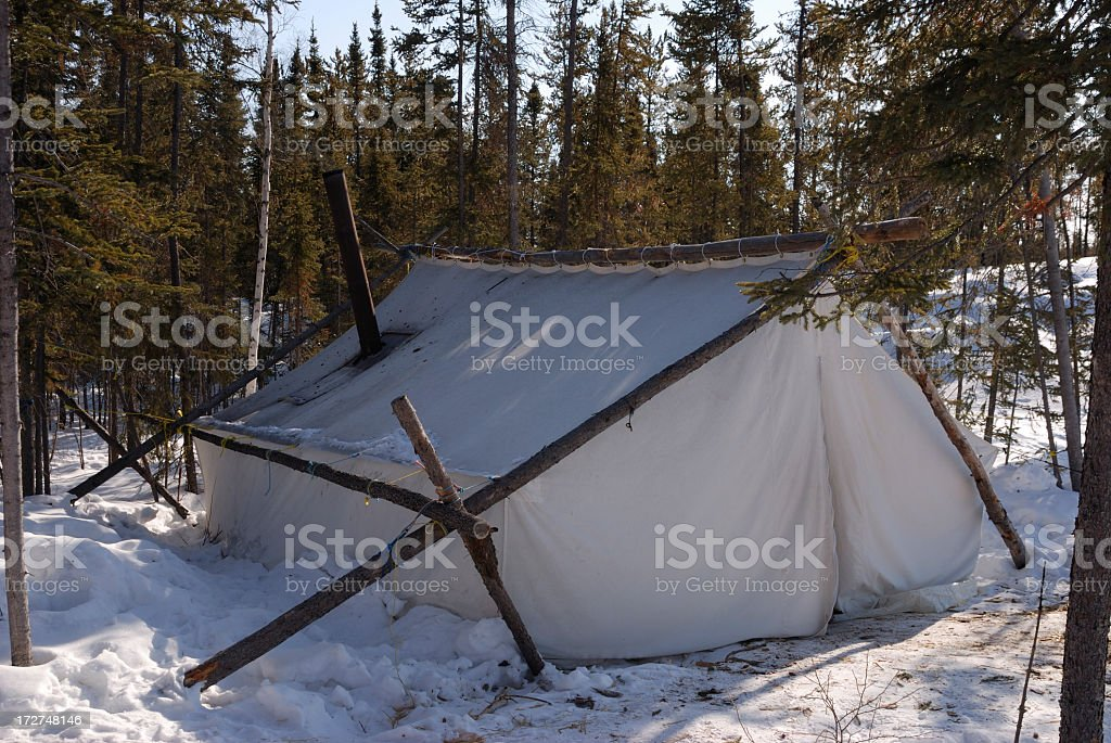 Prospectors Tent in the Arctic. royalty-free stock photo