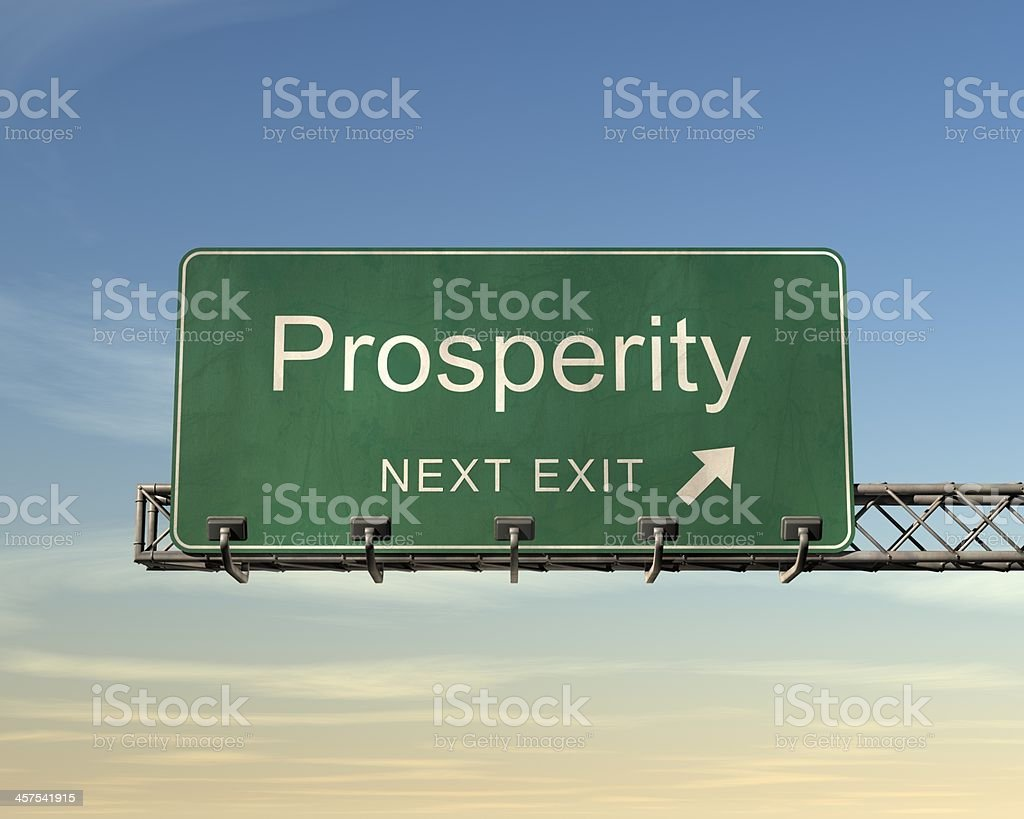 Prosperity Road Sign stock photo