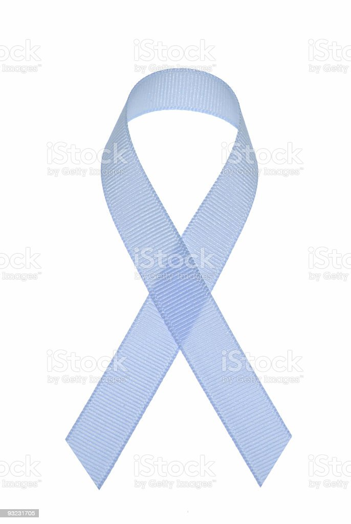Prostate cancer awareness ribbon stock photo