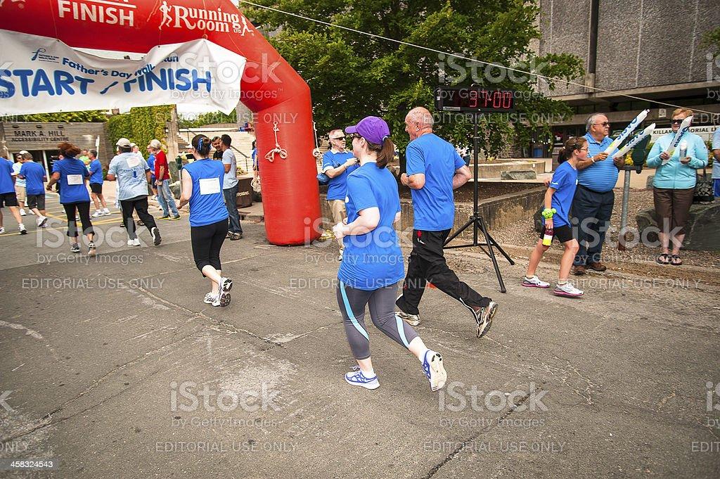 Prostate Cancer Canada 2012 Father's Day Walk / Run stock photo