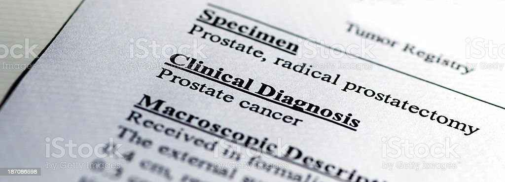 Prostate Cancer Diagnosis royalty-free stock photo