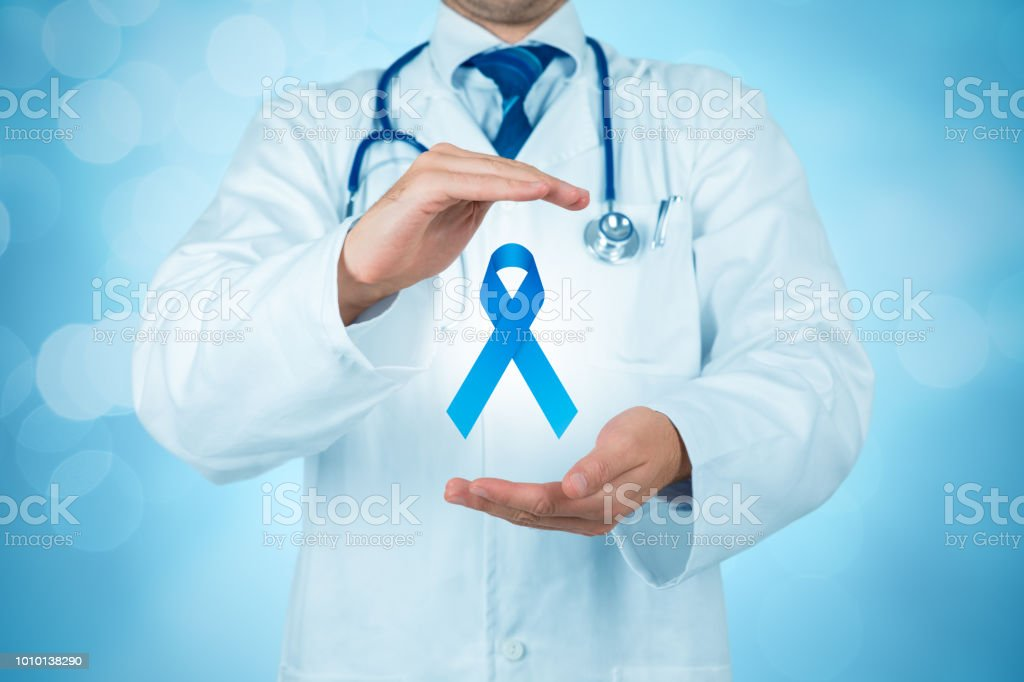 Prostate cancer prevention concept stock photo