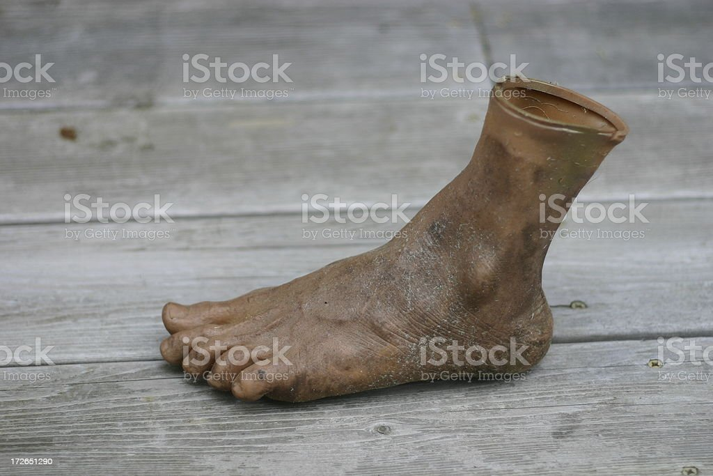 prosthetic foot stock photo