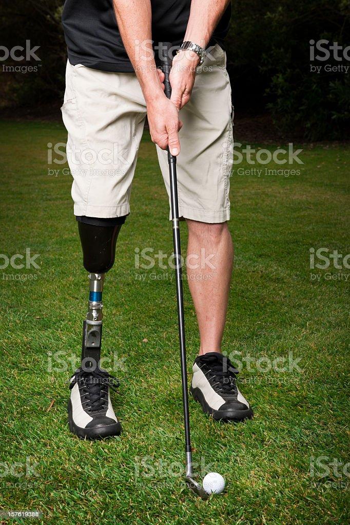 Prosthetic Golfer royalty-free stock photo