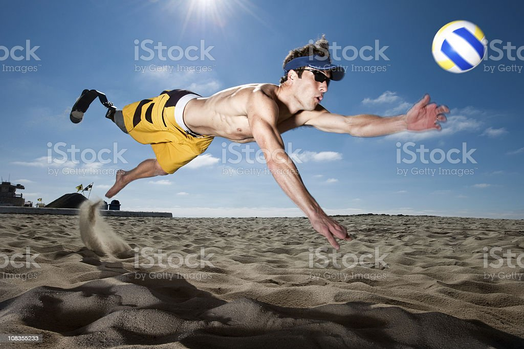 Prosthetic Volleyball stock photo