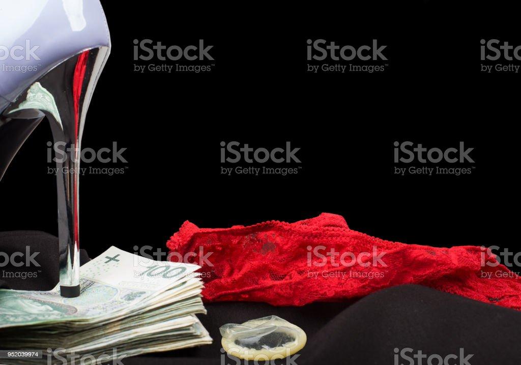 Prostitute - sex trafficking. stock photo