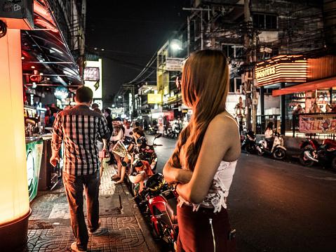 Prostitution In Nana Red Light District Bangkok Thailand