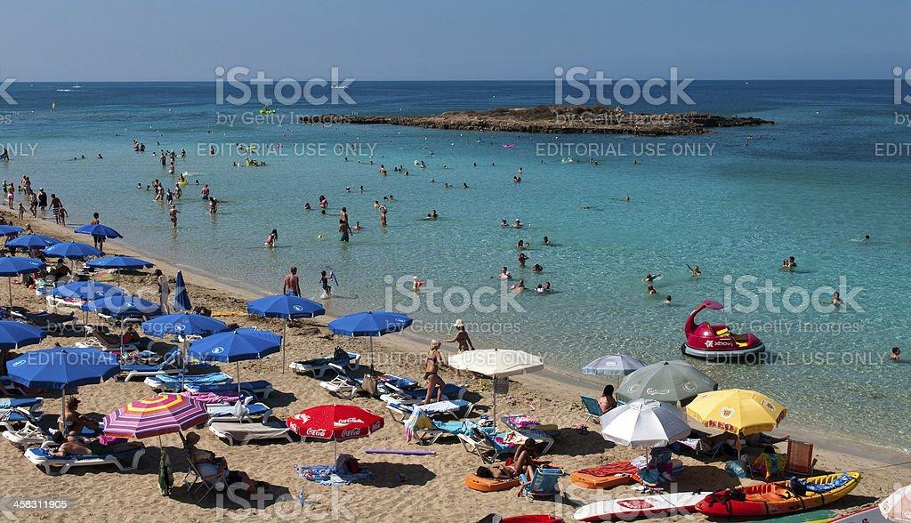Protaras beach ,   Cyprus stock photo
