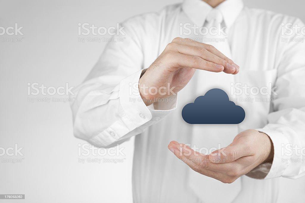 Protect cloud computing data royalty-free stock photo