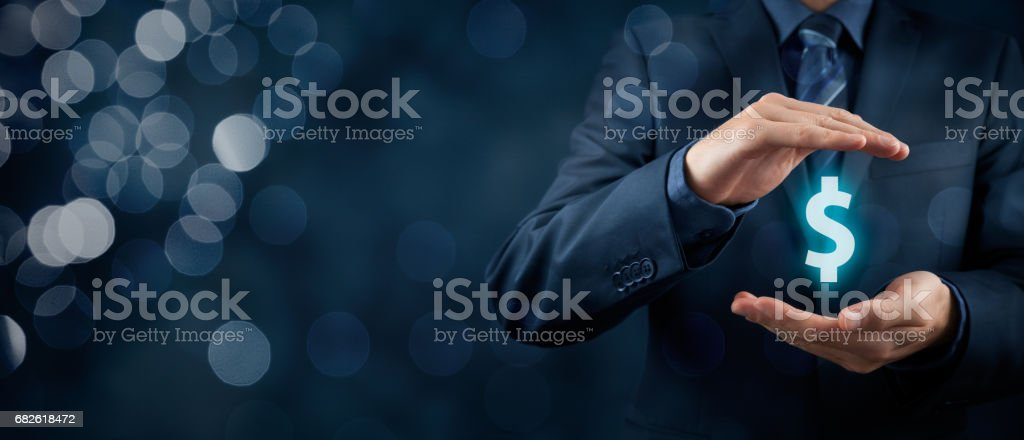 Protect company finances and tax optimization stock photo