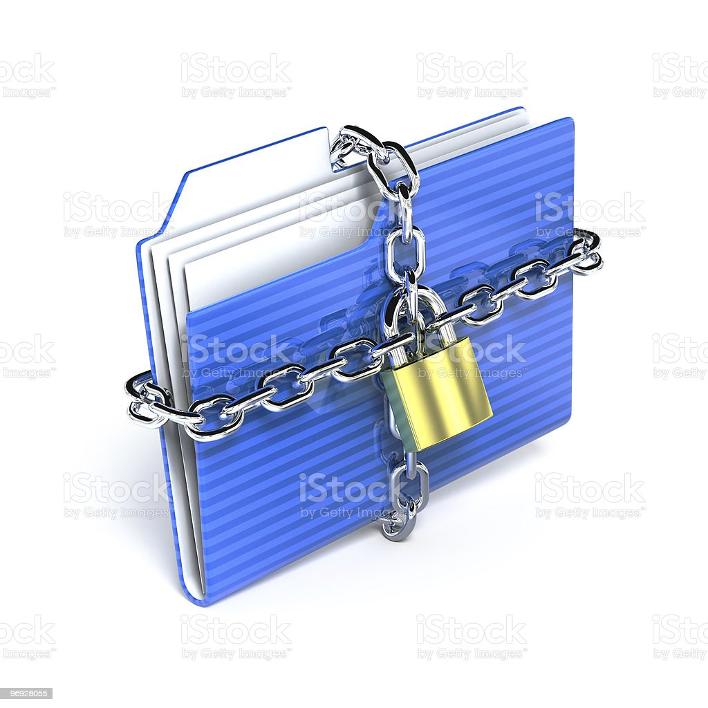 Protect folder royalty-free stock photo