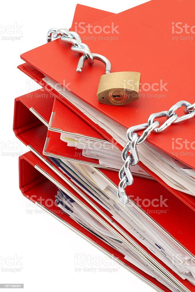 Protect Folders royalty-free stock photo