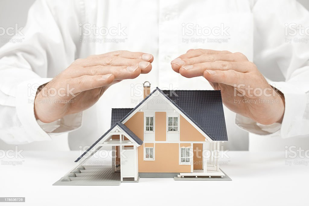 Protect house - insurance concept royalty-free stock photo