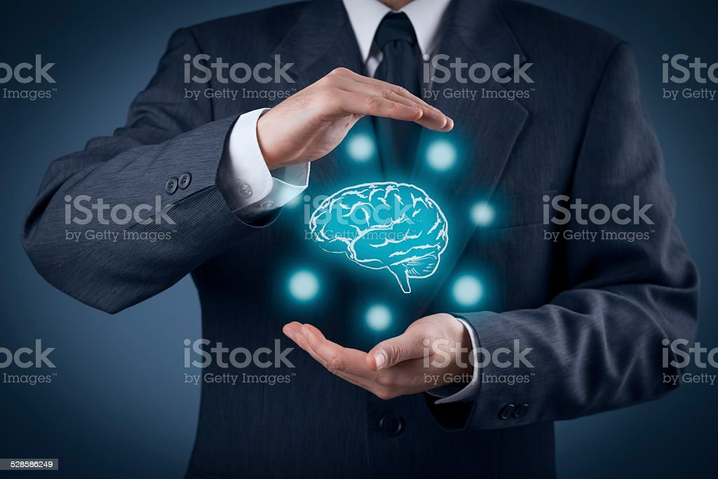 Protect ideas and brainstorming stock photo