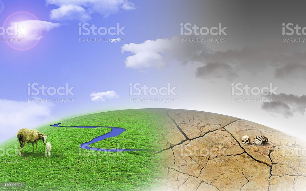 protect our green and blue royalty-free stock photo