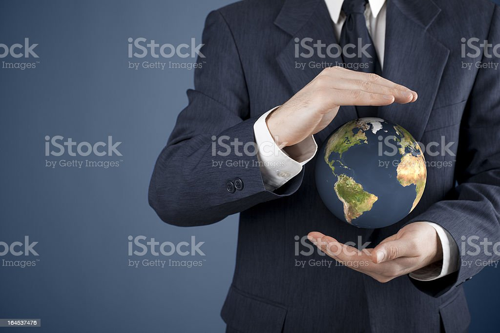 Protect planet Earth royalty-free stock photo