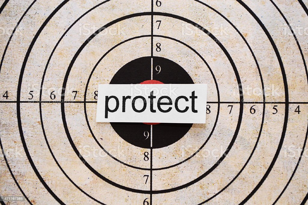 Protect target royalty-free stock photo