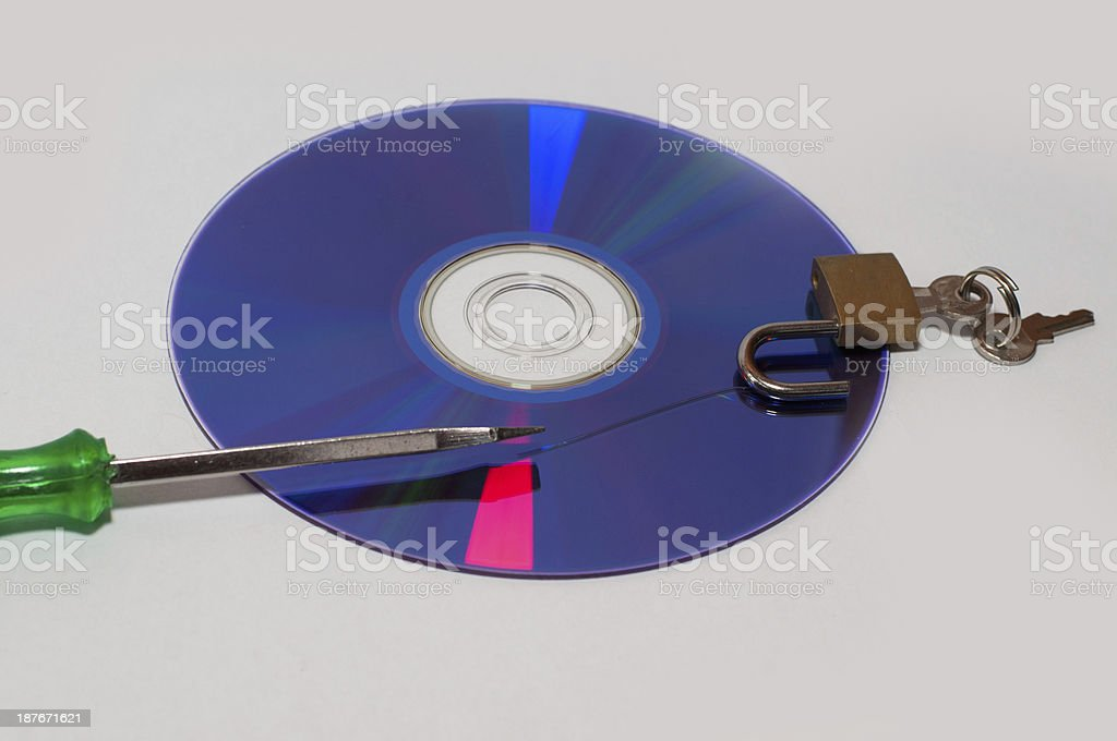 Protect the CD from scratch stock photo