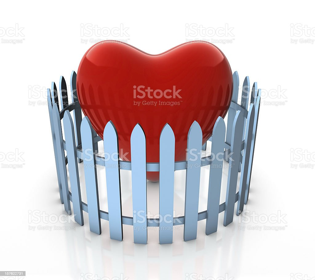 Protect Your Heart royalty-free stock photo