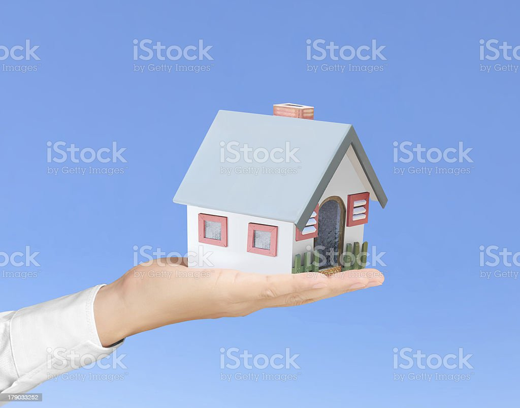 Protect Your House in hand royalty-free stock photo