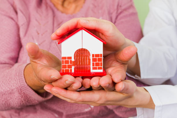 protect your house - senior housing stock photos and pictures