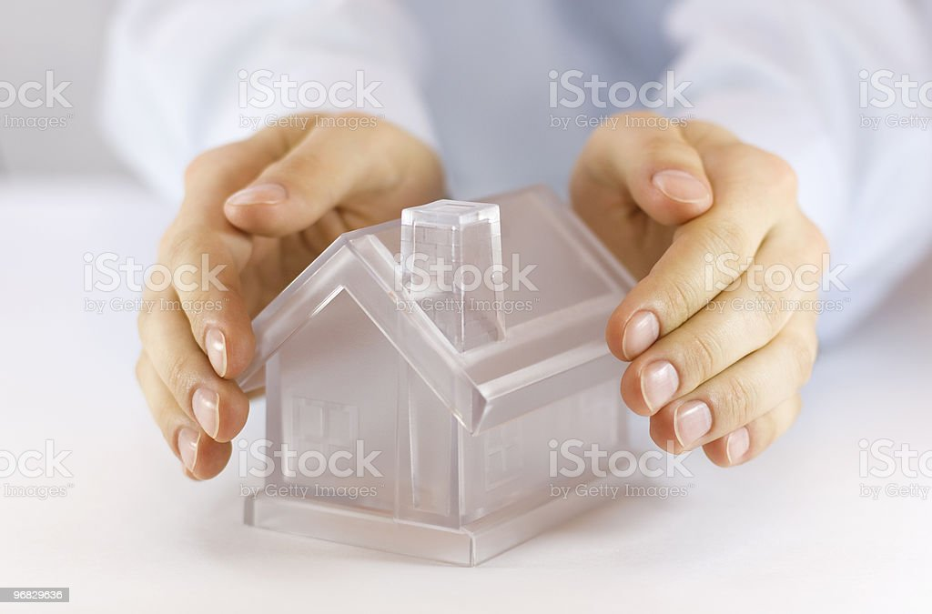 Protect Your House  Adult Stock Photo