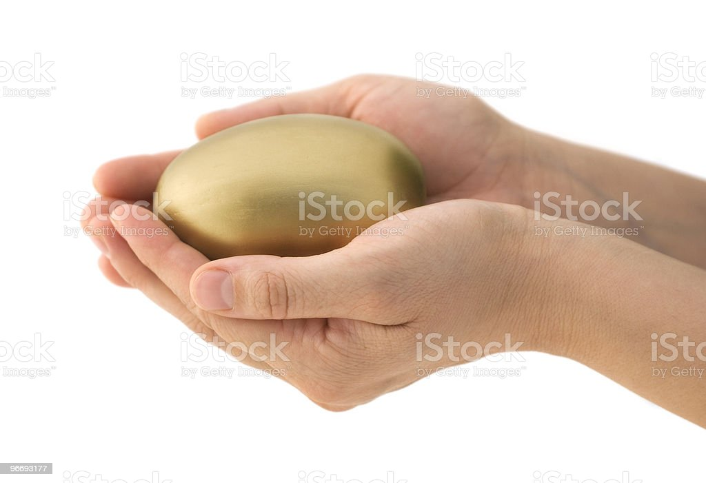 Protect Your Nest Egg stock photo