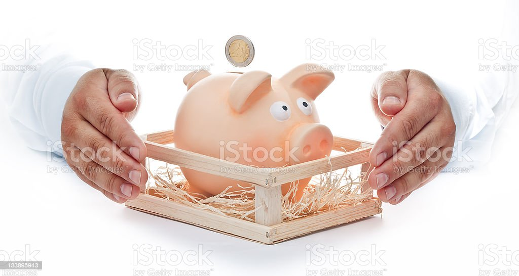 Protect Your savings royalty-free stock photo