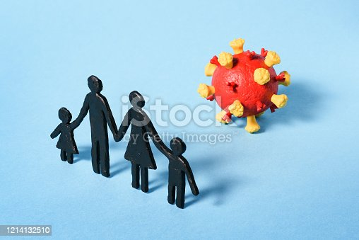 Family Coronavirus Threat. How to protect yourself and your children? Pandemic COVID-19