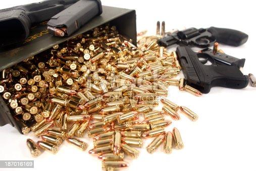 Assorted guns and ammunition.