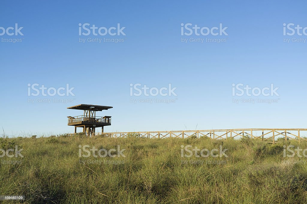 Protected area observation point stock photo