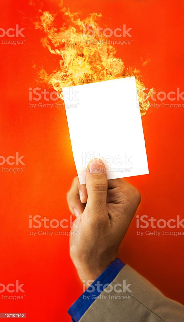 Protected from the flames royalty-free stock photo