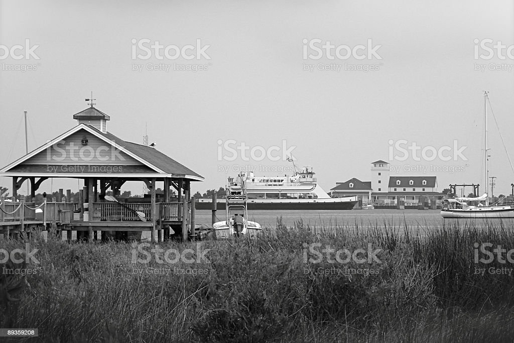 Protected harbor on the Outer Banks. stock photo