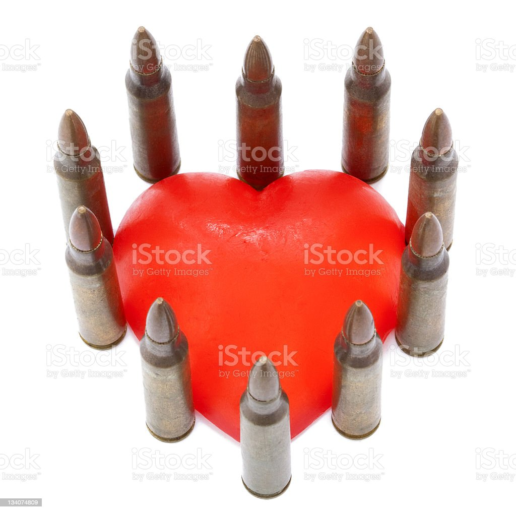Protected Heart stock photo
