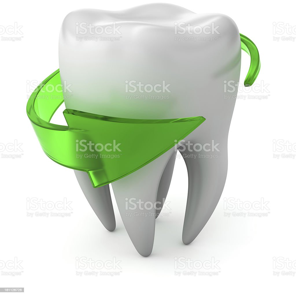 Protected tooth stock photo