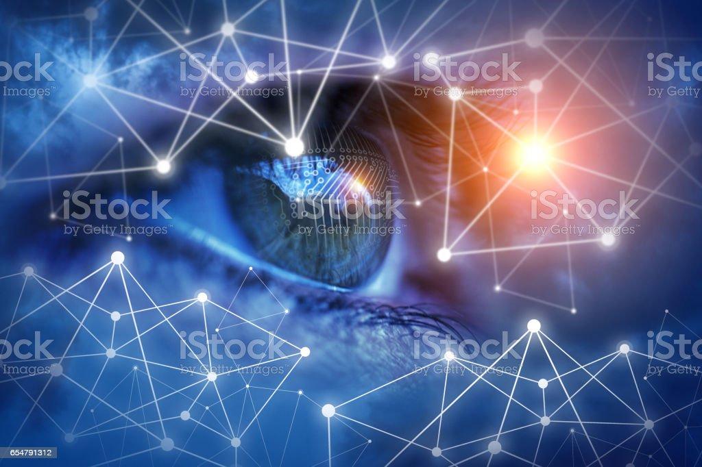 Protección y monitoreo de su red - foto de stock