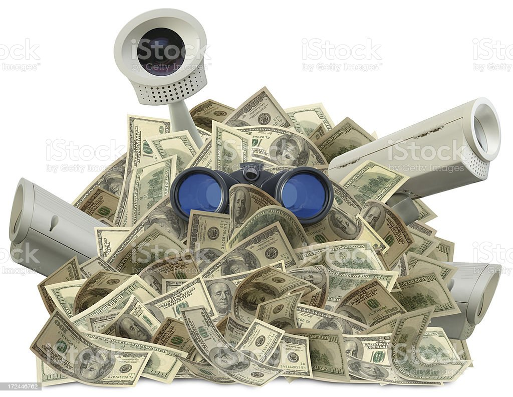 Protecting Assets royalty-free stock photo