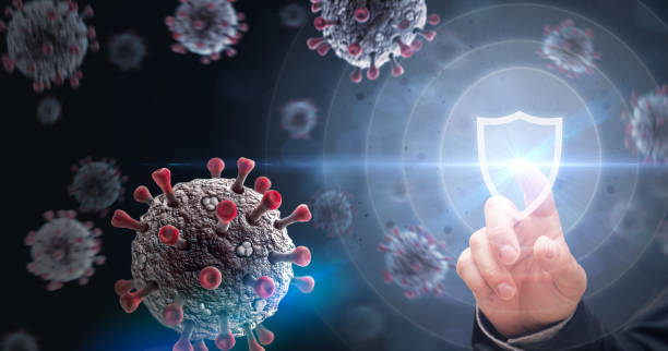 Protecting from Virus Attack stock photo