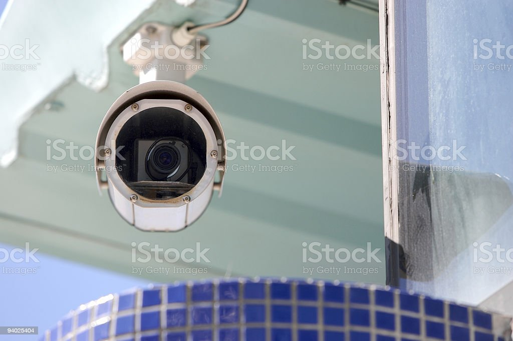 CCTV Protecting modern building royalty-free stock photo