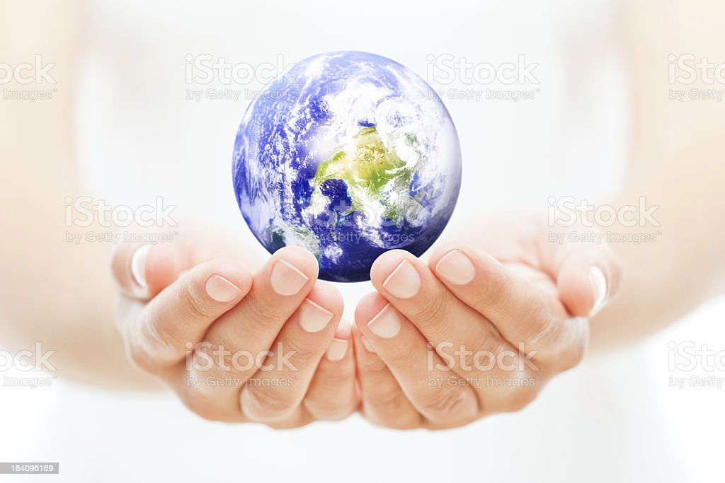 Protecting Planet Earth stock photo