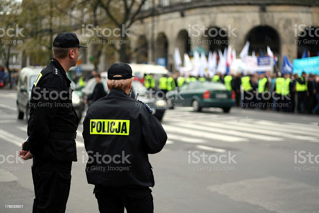 Protecting the demonstration 3 royalty-free stock photo