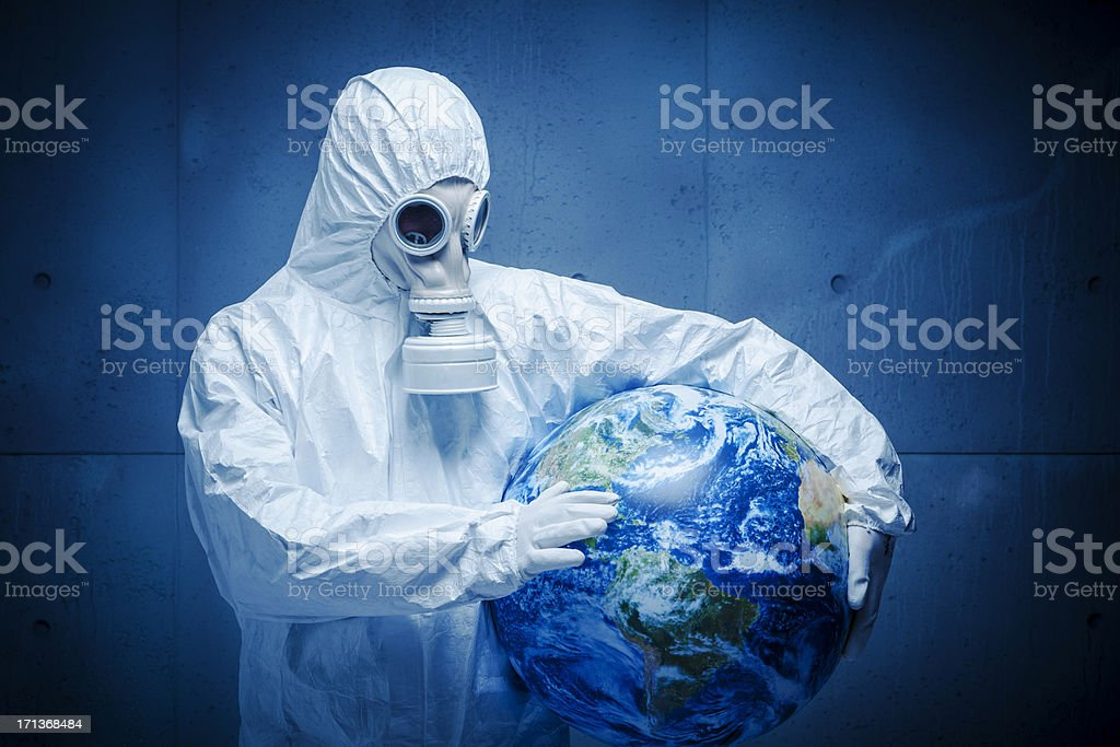 Protecting the Earth stock photo