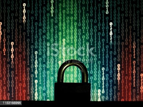 1001827816 istock photo protecting the user privacy against hackers and virus. 1153166995