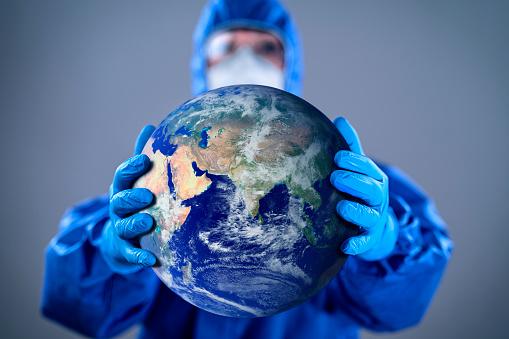 Protecting World From Coronavirus Covid 19 Novel Corona Outbreak Stock Photo - Download Image Now