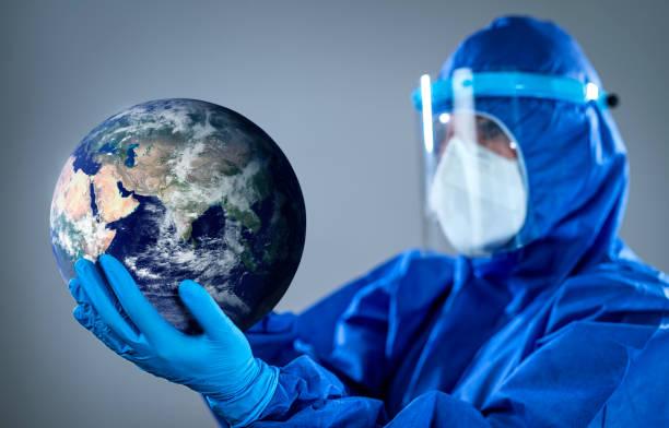 Schutz der Welt vor pandemischem Coronavirus COVID 19 neuartiger Corona-Ausbruch – Foto