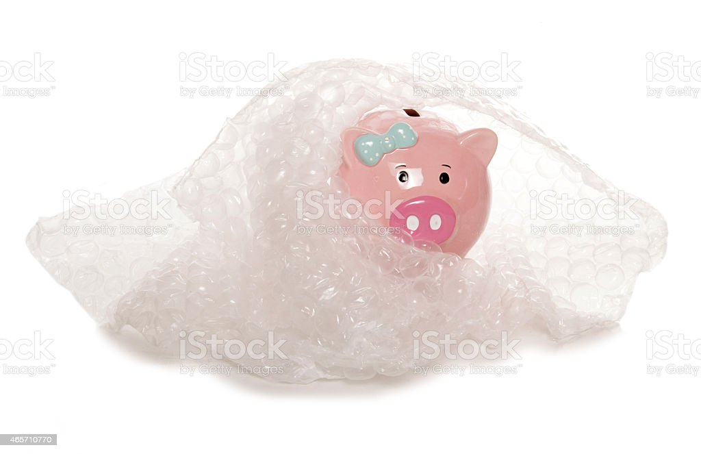protecting your money piggy bank stock photo